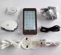 2 قناة lcd شاشة اللمس الكهربائية نبض العلاج tens ems مدلك ، 12 طرق الرقمية الالكترونية الوخز بالإبر العلاج المغناطيسي بواسطة dhl