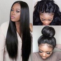Full Lace Human Hair Wigs Straight Malaysian Virgin Hair 130...
