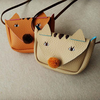 Everweekend Girls Ins Fox Pu Leather Mini Purse Cartoon Bags...