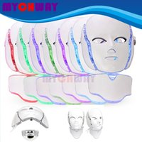 BIO مكركرنت رفع مكافحة الشيخوخة PDT LED أضواء فوتون الجلد تجديد الوجه العناية الرقبة قناع جهاز الجمال