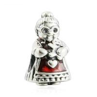 Pani Boże Narodzenie Charms Autentyczne S925 Sterling Silver Beads pasuje do oryginalnych bransoletek biżuterii 792005EN07