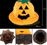 Halloween pumpkin hat decoration supplies a Halloween costum...