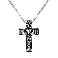 Urn Collana Irish Claddagh Heart in Cross Memorial Keepsake Pendant Cremation Jewelry