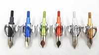 6 Цвет 100 Зерновая Охота Стрельба Токсичные Бродхеды Лезвие дуги Стрельба из лука Стрелы Головы Стрелка Практика Очки Советы