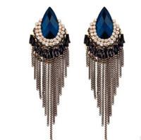 Модные серьги Богемия национальный ветер Модные длинные кисточки ушастая реставрация древних способов пять цветов можно выбрать