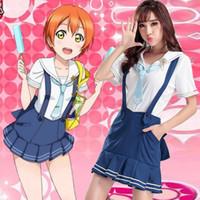 432bb98b7 Wholesale rin love live cosplay online - Love Live Hoshizora Rin navy cosplay  costume