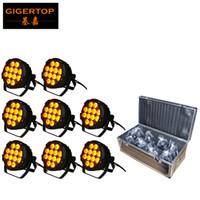 Wash Outdoor LED Light Par 12x18W RGBWAUV WATERPROOF IP65 caixa metálica para o partido de casamento da igreja Gardern + 8em1 Estrada Caso TP-P102