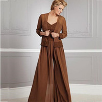 Vintage Chiffon Pants Suits For Mother Of The Bride V Neckli...
