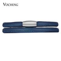 VOCHENG Charms sans fin en cuir de mouton Bracelet Interchangeable Bijoux Simple Double Bracelet Aimant en acier inoxydable Fermoir VC-323