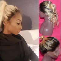 360 Full Lace Frontal Closure Ombre 613 Platinum Beach Blond Body Wave Adjustable Band 100% Brazilian Remy Human Hair Tone Blonde Color