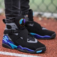 2018 new AAA+ quality men basketball shoes Aqua black purple...
