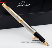 Free Shipping Parker roller Pen School Office Supplies silve...