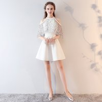 SSYFashion 2017 Summer New Cocktail Dress The Bride Short Wh...