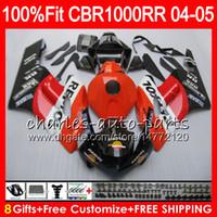 Инъекции Repsol оранжевый корпус для HONDA CBR1000 RR CBR 1000RR 04 05 79NO79 100% Fit CBR1000RR 04 05 кузов CBR 1000 RR 2004 2005 обтекатель