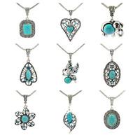 Monili delle donne delle collane di modo del maglione del pendente della collana dell'annata Blu Turchese