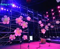 조명 팽창 식 꽃 웅덩이 팽창 핑크 꽃 콘서트 무대 / 콘서트의 매화