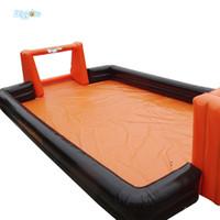 EN14960 und CE Certificated Outdoor Hot Verkauf Inflatable Menschliches Tischfußball Feld mit Basis Inflatable Menschen Kicker-Spiel mit Air Blower