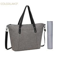 Commercio all'ingrosso- Borsa da pannolini da colorland per la borsa della mamma impermeabile bag aderente bag per passeggino per passeggio moda Mummy maternity bags borse organizzatore
