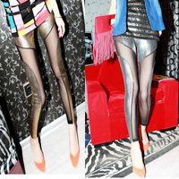 Yeni tasarım kadın seksi bodyon tırmanmak bling altın gümüş yaldız patchwork gazlı bez perspektif tunik pantolon tayt
