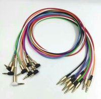 L PLUG Aluminium Métal Adaptateur TPE Matériel 3.5mm Stéréo Audio Câble 1M 3FT OD3.2mm avec soulagement du ressort en acier 200pcs / lot