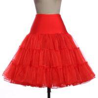 El nuevo estilo de la enagua de tul faldas de cintura alta manera de las mujeres plisado vendimia enagua de la crinolina enagua falda de las mujeres