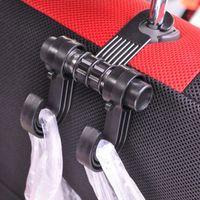 السيارات مقعد السيارة الخلفي مزدوج هوك لوازم السيارات أكياس السيارات السنانير متعددة الأغراض داخل المنظم تخزين الملحقات