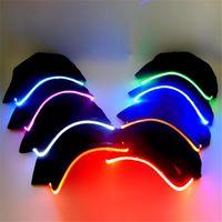 Nuevo Led Luminous Party Sombreros de béisbol Mujeres Hombres Hockey Snapback Gorras de baloncesto Unisex Sombrero de fibra óptica Visor Turismo