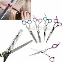 Wholesale- J117-Free professionale professionale Barber Salon taglio dei capelli forbici assottigliamento cesoie parrucchiere