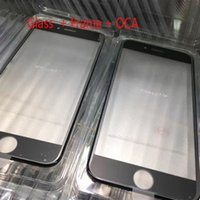 10pcs lot Touch Screen Outer Glass Lens with Cold Press Middle Frame with OCA installed for iPhone 6 6s 6 plus 6s plus