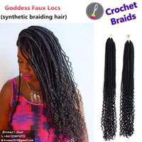 Janet collection 20inch Faux Locs Curly Crochet Hair Extensi...