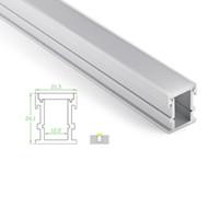 10 X 1M fixe / lot 6000 série profilé en aluminium pour bandes LED et étanche canal de profilé en U pour sol ou des lampes encastrés de sol