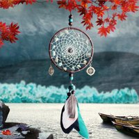 Green Beads Dreamcatcher Car Pendant Ornaments Handmade Drea...