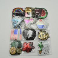 120pcs / набор Mixed Fruit / радуга / флага блестки Вышитые пришить / Iron заплат Set Badge Bag Fabric аппликация Craft