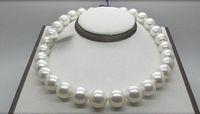 Тонкий жемчуг цепь огромный великолепный 12-13 мм Южный моря круглая белое жемчужное ожерелье 18 дюймов 14k