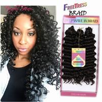 Bohemian Crochet Afro Kinky Curly Tranças 3pcs / Pack Savana Twist Hair Jerry Curly 10inch Trança Sintética Cabelo Marley Torção