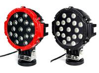 7 pouces 51W voiture ronde LED lumière de travail 12V haute puissance 17 x 3W spot pour 4x4 conduite de camion tout-terrain conduite de brouillard