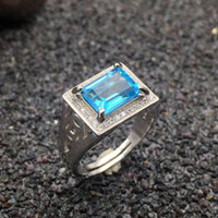 100% natural topaz ring classic solid 925 sterling silver ri...
