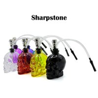 Hot Sharpstone Mini Skull Glass Hookah New Various Clean Col...