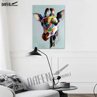 Coola motorcykelbröder modern kanfasmålning 100% handmålad oljemålning hund paqinting tecknad djur väggkonst heminredning