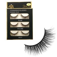 3D Mink Lashes 3pairs set Natural Long False Eyelashes Exten...