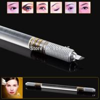 Penna del tatuaggio di trucco sopracciglio permanente manuale superiore di alta qualità all'ingrosso con CHUSE 50pcs 14 lama degli aghi