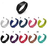 Bandas de Substituição de silicone Para Fitbit Charge 2 Pulseira de Relógio de Pulso Banda Pulseira pulseira esporte 10 pçs / lote