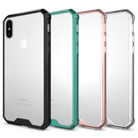 For Iphone x Case Luxury Soft TPU Bumper + Clear Hybrid Back...