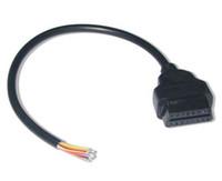 Topcartool OBDDIY Femmina OBDII 16 pin per terminare il cavo connettore aperto pin OBD2 per aprire il cavo terminale femmina 0bd2 16pin estremità aperta cavo