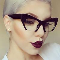 ALOZ MICC мода женщин классический Кошачий глаз очки новая половина кадр старинные очки Cateye и прозрачная линза UV400 A115