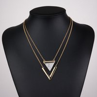 Triangle Hoard of Pendant Necklace Hot Style V- shaped Double...