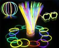 Hot 7.8 '' Glow Stick Brazalete Collares Neon Party LED Luz intermitente Stick Wand Novedad Toy LED Vocal Concierto Flash LED Sticks JC183