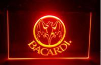 B-230 bacardi راية العلم البيرة بار حانة نادي 3d علامات أدى ضوء النيون تسجيل ديكور المنزل الحرف