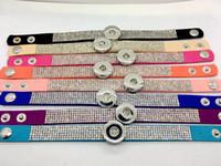 도매 진저 스냅 팔찌 8pcs / Lot 믹스 스타일 여성 패션 라인 석 스냅 팔찌 보석 맞추기 18MM 스냅 덩어리 매력 버튼