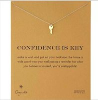 Dogeared Necklace with key(confidence is key), silver and go...